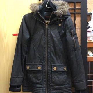 極度乾燥 黑色軍外套