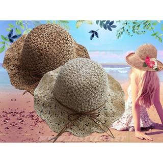 手工編織草帽 海洋音樂季  福隆 墾丁 海邊 沙灘 度假 防曬 可折 遮陽帽【C074】