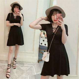 預購XL ~5XL大尺碼洋裝 性感洋裝 露胸甜美 胖妹妹 黑色洋裝夜店戰衣