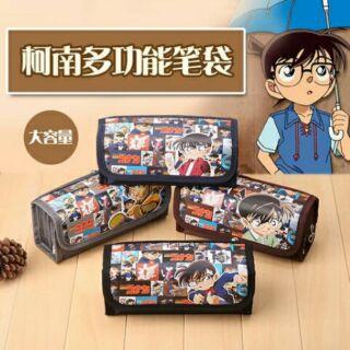 韓版密碼鎖筆袋學生創意大容量帆布文具盒筆袋男 名偵探柯南筆袋