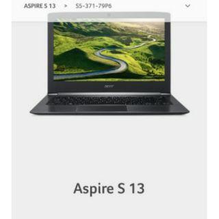 acer  ASPIRE S13  S5-37-76Tz 筆電 少用