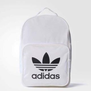 包包出清拍賣 Adidas Originals Classic Trefoil 後背包 白