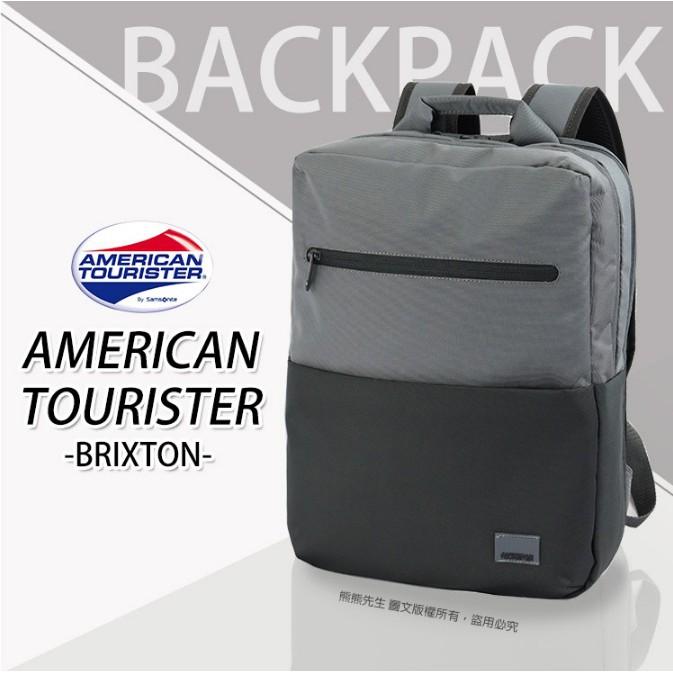 《熊熊先生》新秀麗Samsonite美國旅行者 AT 混色輕時尚 筆電後背包雙肩包 行李箱拉桿插帶 95S005