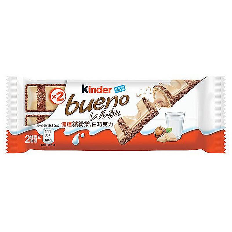 健達 繽紛樂 白巧克力 39g【康鄰超市】