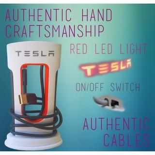 【綠動未來】TESLA Supercharger-A 超級充電站造型 手機充電器 配備LED燈及手機座