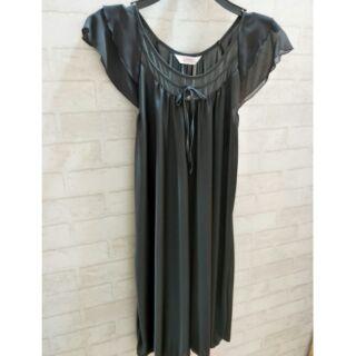 極透氣極柔軟絲質長版洋裝睡衣