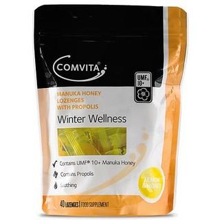 紐西蘭 Comvita 活性麥蘆卡UMF10+ 蜂膠&蜂蜜潤喉糖 40粒(檸檬蜂蜜)