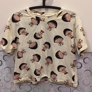 櫻桃小丸子 短版外罩T恤