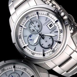CITIZEN Eco-Drive 星際穿梭三眼光動能腕錶(銀/42mm) CA0370-54A,,全省精光堂保固