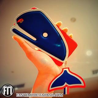 櫻桃貓歐美潮牌精品設計蘋果iPhone7個性創意鯨魚手機殼