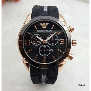貨Armani 阿曼尼AR 陶瓷手錶男士石英錶三眼計時日曆 休閒手錶男AR1451 A