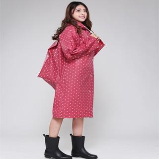 2017EVA時尚可愛成人背包半透明粉色嘴唇連體雨衣雨披機車