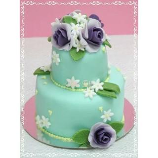 {SUGAR ACORN}迷你雙層翻糖蛋糕 造型蛋糕馬卡龍糖霜餅乾結婚蛋糕