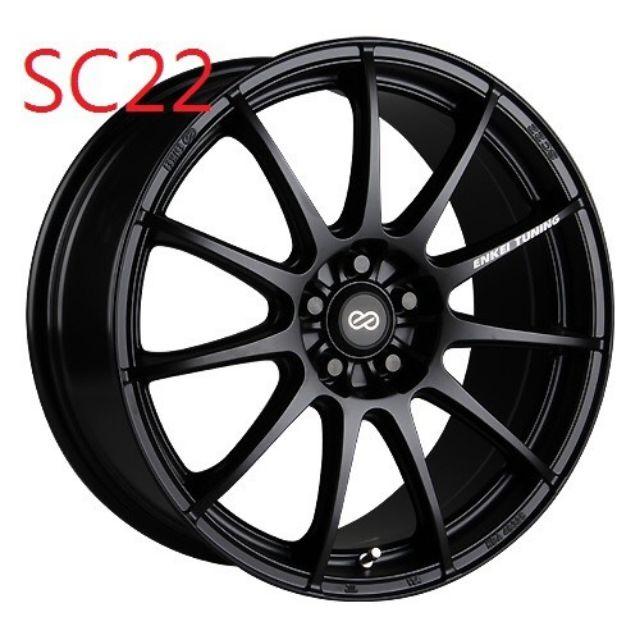 ENKEI SC22 18吋5孔108平光黑鋁圈~FOCUS V40 XC40 V60(起標價非商品實際售價 請洽詢)