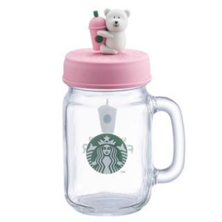 星巴克 粉bearista 玻璃冰杯  黃bearista 玻璃冰杯 綠bearista 玻璃冰杯 7/26上市