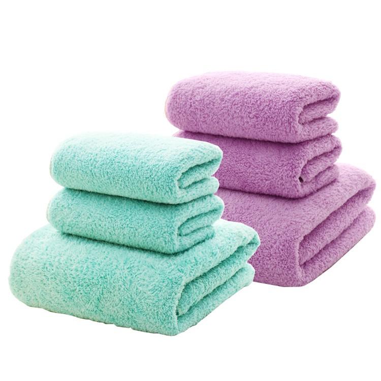 六入 珊瑚絨 超吸水 浴巾組