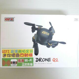 FPV WIFI 空拍機 遙控四軸 直升機 一鍵起飛降落 翻滾 Mini Drone Q2