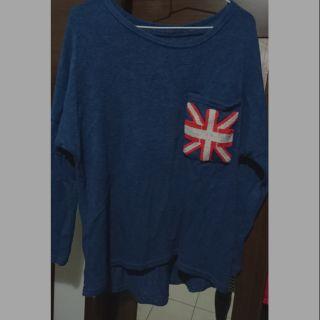 毛衣 深藍 長版