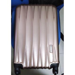 America tiger 髮絲紋玫瑰金行李箱