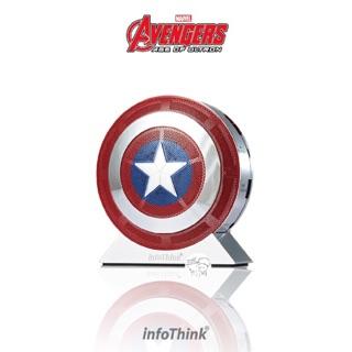 InfoThink 復仇者聯盟2美國隊長盾牌行動電源7800mAh X 藍芽喇叭