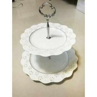 創意歐式雙層點心盤蛋糕架甜點蛋糕盤