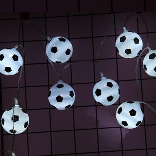 足球LED燈串節日裝飾燈條裝飾星星串燈兒童房裝飾彩燈
