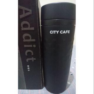 [全新]CITY CAFE 不鏽鋼真空兩用隨行杯