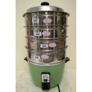 *大特價*304(18-8)不鏽鋼蒸籠十人份電鍋適用組合(層*4+430不鏽鋼萬用蒸盤*1)(不含電鍋)