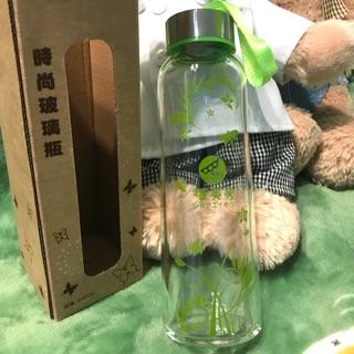 「全新」植英房 時尚玻璃瓶240ml 隨身水壺
