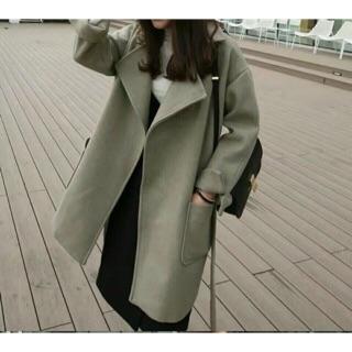 90%羊毛綁帶大衣