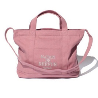 日本 梨花 MAISON DE REEFUR Logo 2Way Canvas Tote Bag