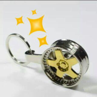 五爪星輪框 鑰匙圈(MAZDA 現代 福斯 速霸陸 賓士 納智捷 福特 均適用)