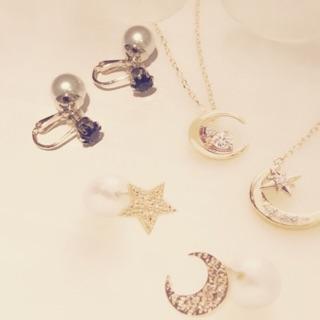 Lulublu-現貨 深海藍珍珠夾式耳環 全新現貨 Dior款式 Chanel 無耳洞耳夾 韓國熱賣時尚單鑽