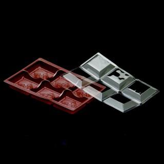 利歐-50入內襯六粒綠豆凸 蛋塔盒 蛋塔 布丁塔 檸檬塔 6入盒