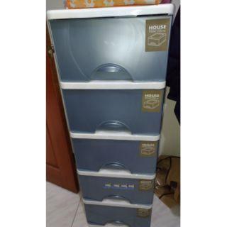 台灣製 HOUSE TWL05 大自然收納櫃 五層櫃 整理箱 收納箱 置物箱 抽屜櫃 附輪 165L