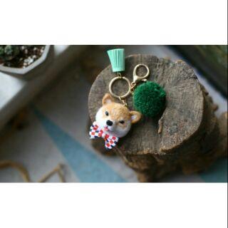 Cookids 柴犬客製化羊毛顫鑰匙圈