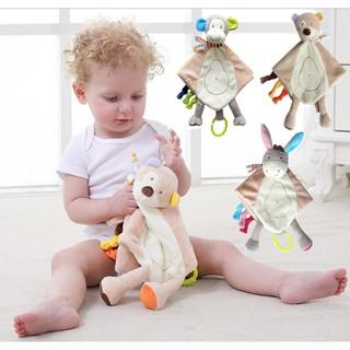 嬰兒安撫毛絨玩具玩偶多功能安撫巾寶寶口水 巾猴子手偶陪睡
