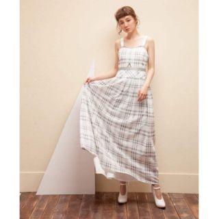 Marjorie  瑪裘瑞 灰白格紋長洋裝  %23 marjorie %23M尺寸