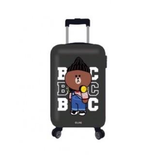 現貨黑❤郵局送到家免運費! 全新line熊大20吋 ABS 8輪行李箱登機箱