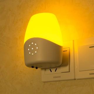感應開關插座插電床頭燈 聲控小夜燈遙控 寶寶喂奶夜燈LED光控燈