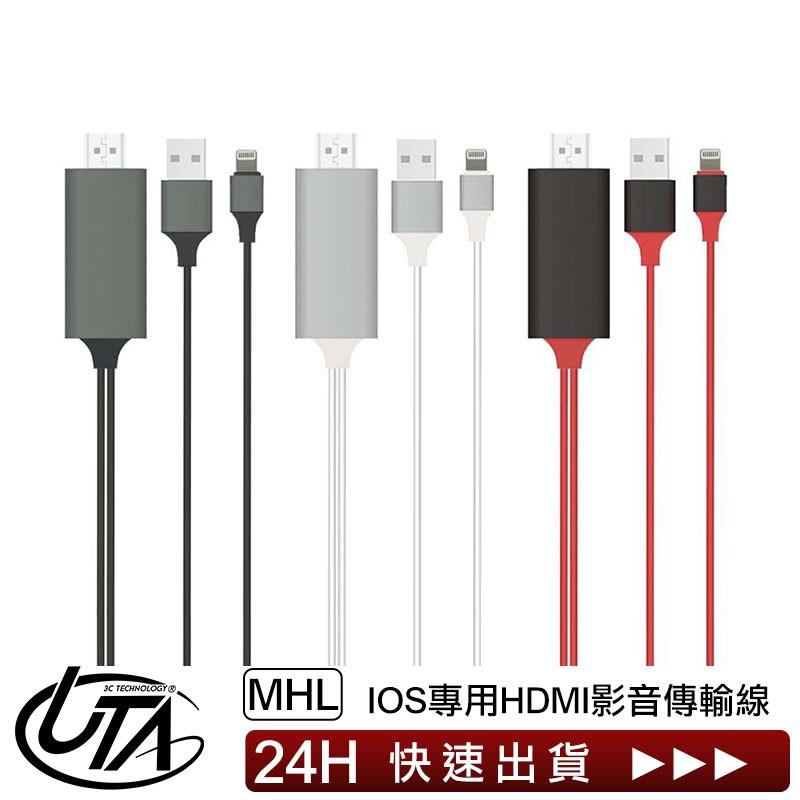 【台灣公司貨】支援IOS12 Apple IPhone轉HDMI 手機投影 MHL螢幕同屏器 1080P 高清抗干擾線材