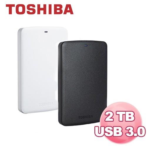 Toshiba BASICS A2 黑靚潮II 2TB USB3.0 2.5吋 行動硬碟 全新品開發票有保障