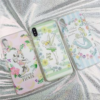 |Oppo/iPhone手機殼|獨家訂製款迪士尼米妮艾莉絲小精靈公主清新軟殼