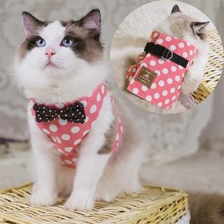 ~小花~貓咪牽引繩貓繩子遛貓繩胸背帶背心式栓貓繩貓鍊子貓咪 溜貓繩