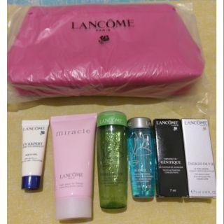LANCOME 旅行組 (LANCOME化妝包 + 6種旅行化妝品)