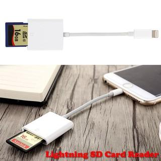 OTG 閃電配接器到 SD 卡相機讀卡機照片2in1 蘋果 iPad iPhone