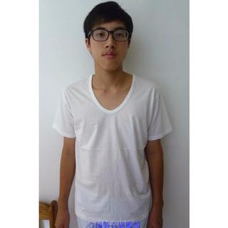 【心福】S315 單面純棉短袖 (V領汗衫) S~LL    台灣製 精梳棉 輕透柔    優質 平價 舒適