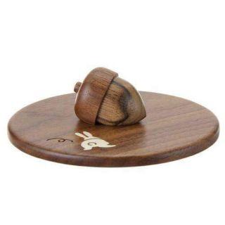 小兔子胡桃木頭日本製杯蓋(預購)