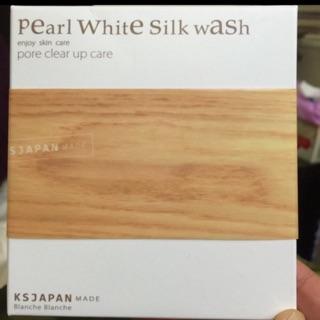 QQ賣場~Pearl White Silk Wash木瓜酵素洗顏粉⋯真珠洗臉粉撲..木瓜酵素洗臉