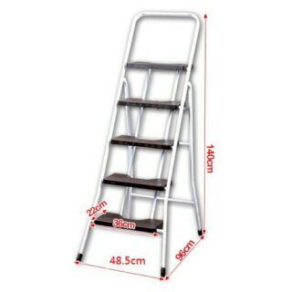 5階可收折梯子/A字梯/馬椅/爬梯 /五階/咖啡色